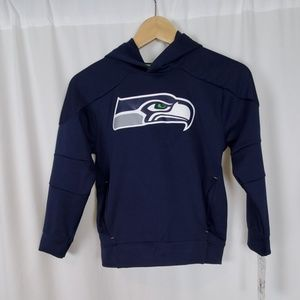 NFL Team Apparel Boys Hooded Seahawks Sweatshirt
